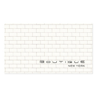 Cool White Subway Tile Pattern Pack Of Standard Business Cards