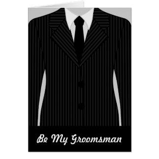 Cool Will You Be My Groomsman Greeting Card Greeting Card