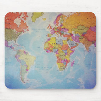 Cool World Map Mouse Mat