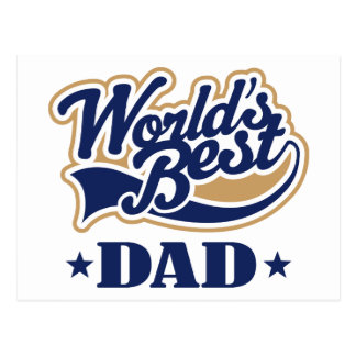 Cool World s Best Dad Gift Postcards