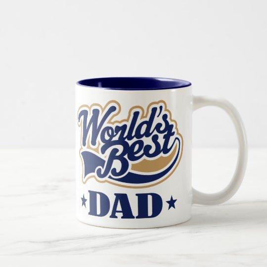Cool World's Best Dad Gift Two-Tone Coffee Mug