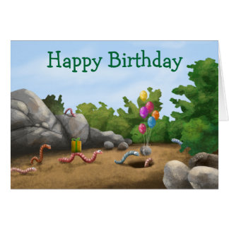 Cool Worm Birthday Card