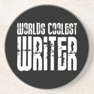 Cool Writers Worlds Coolest Writer Drink Coaster