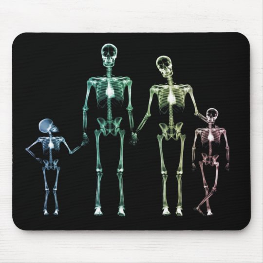 cool xray skeleton mouse pad