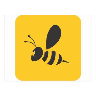 Cool Yellow Bee Icon Logo Shirt Postcard