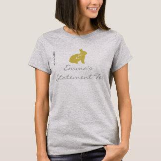 Cool Yellow Bunny Emma's Statement T-shirt