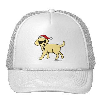 Cool Yellow Labrador Cartoon Christmas Hats
