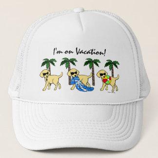 Cool Yellow Labradors Cartoon Trucker Hat