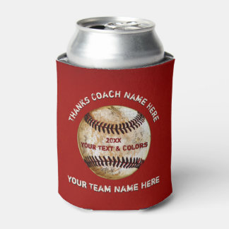 Cool yet Cheap Baseball Coach Gifts, Personalized Can Cooler
