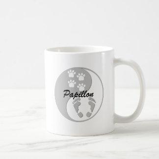 Cool yin yang Papillon Coffee Mugs