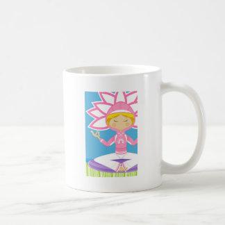 Cool Yoga Girl Basic White Mug