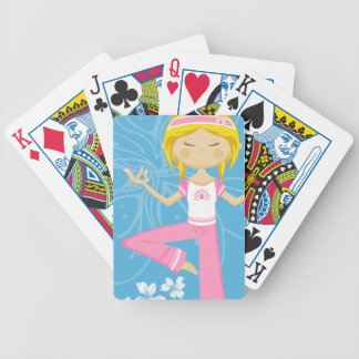 Cool Yoga Girl Bicycle Playing Cards