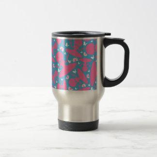 Cool Yoga Girl Pattern Travel Mug