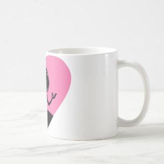 Cool Yoga Girl Silhouette Basic White Mug