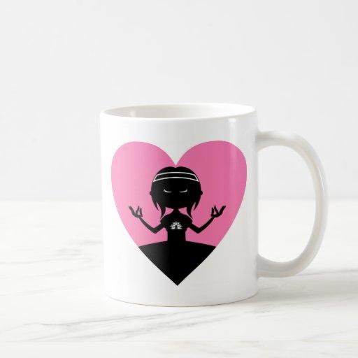 Cool Yoga Girl Silhouette Coffee Mugs