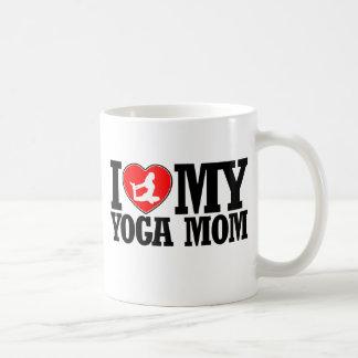 cool yoga  mom designs classic white coffee mug