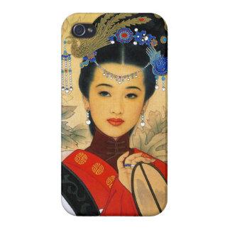 Cool young beautiful chinese princess Guo Jin art iPhone 4 Case