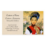 Cool young beautiful chinese princess Guo Jin art Pack Of Standard Business Cards