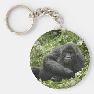 cool young mountain gorilla key chain