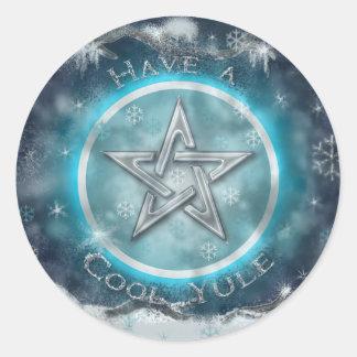 Cool Yule Round Sticker