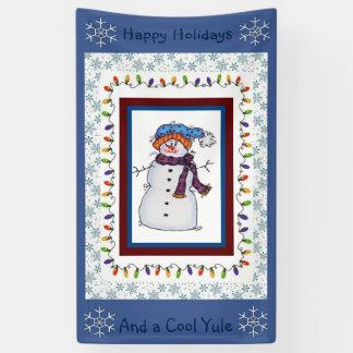 Cool Yule Snowman Banner