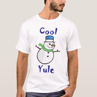 Cool Yule Snowman in Blue Top Hat