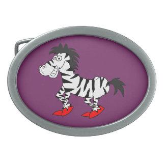 Cool zebra design matching jewelry set belt buckles