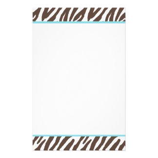 Cool Zebra Pattern Stationery