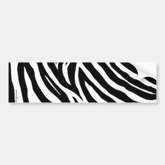 Cool Zebra Stripes Bumper Sticker