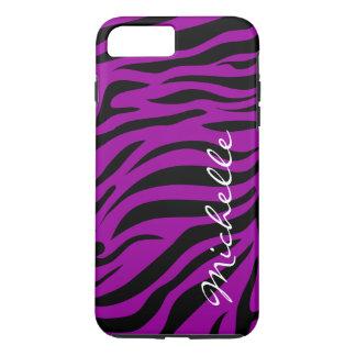 Cool Zebra Stripes Monogram iPhone 8 Plus/7 Plus Case