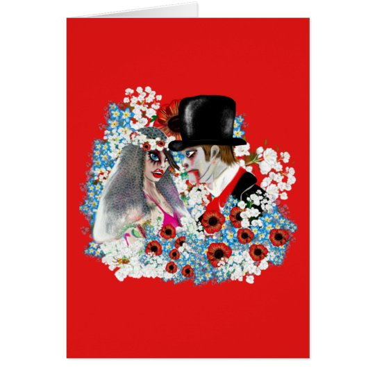 Cool Zombie Bride and Groom Wedding gifts Gothic