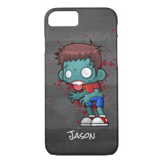 Cool Zombie Dude with Blood / Paint Splatter iPhone 8/7 Case