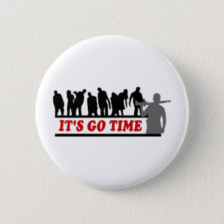 Cool ZOMBIES It's go time design 6 Cm Round Badge