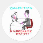 Cooler Than A Video Game Artist Sticker