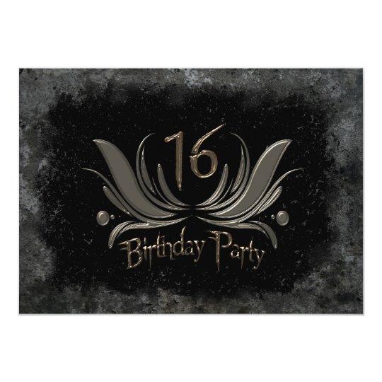 Coolest 16th Birthday Party Invitation - Grunge