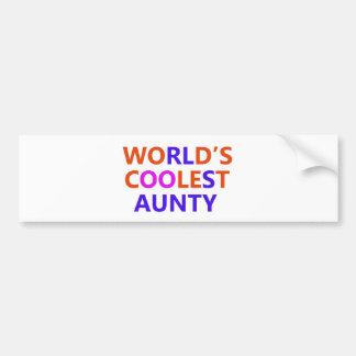 coolest aunt y bumper sticker