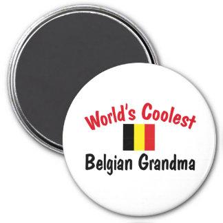Coolest Belgian Grandma 7.5 Cm Round Magnet