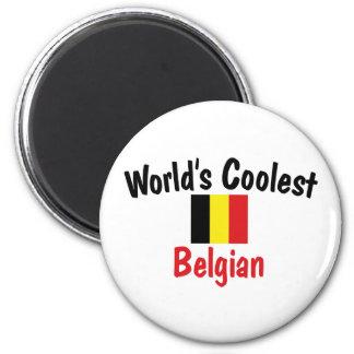 Coolest Belgian 6 Cm Round Magnet
