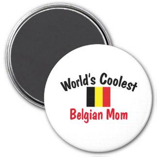Coolest Belgian Mom 7.5 Cm Round Magnet