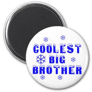 Coolest Big Brother 6 Cm Round Magnet