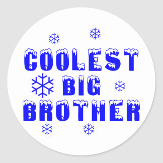 Coolest Big Brother Classic Round Sticker
