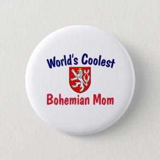 Coolest Bohemian Mom 6 Cm Round Badge