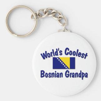 Coolest Bosnian Grandpa Basic Round Button Key Ring