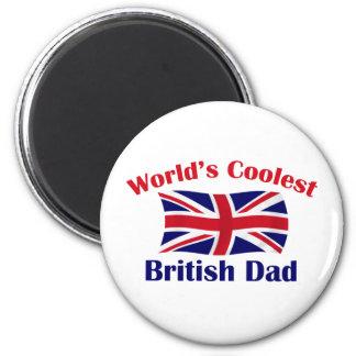 Coolest British Dad 6 Cm Round Magnet