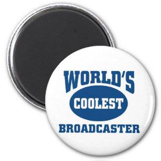 Coolest Broadcaster Refrigerator Magnet