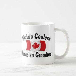 Coolest Canadian Grandma Basic White Mug