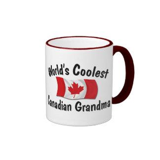 Coolest Canadian Grandma Ringer Mug