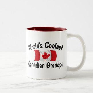 Coolest Canadian Grandpa Two-Tone Mug