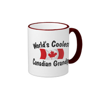Coolest Canadian Grandpa Ringer Mug