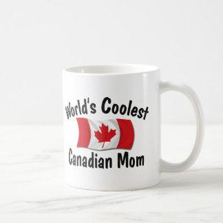 Coolest Canadian Mom Basic White Mug